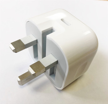 Official Genuine Apple A1696 MU7W2B/A 18W UK 3 Pin USB Type C Charger Head Plug Power Adapter for iPad Pro (USB-C) - White (Bulk Packed)