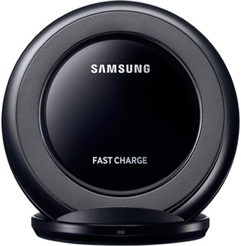 Samsung Original Fast Wireless Charging Stand with UK Travel Adapter - Black - EP-NG930TBEGGB
