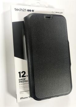 Tech21 Evo Wallet Flip Case Cover for iPhone XR - Black - T21-6713