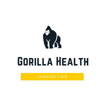 Gorilla Health Washable Hygienic Face Mask - 100% Cotton - White
