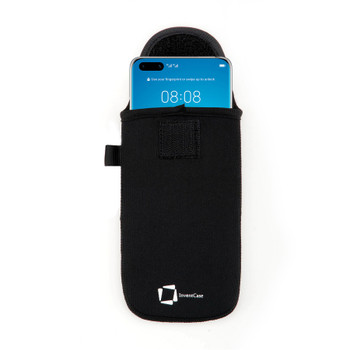 InventCase Neoprene Pouch Case Cover with Carabiner for Huawei P40 Pro 2020 - Black