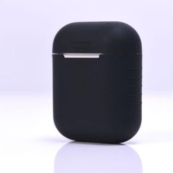 InventCase Silicone Protective Grip Case Cover for Apple AirPod Earphones / Headphones Charging Case - Black