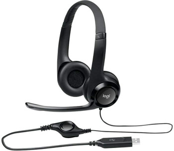 Logitech 981-000014 H390 USB Computer Digital Sound Headset Microphone