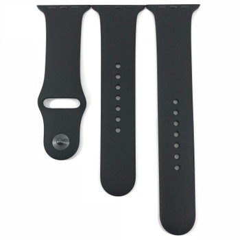 Official Apple Watch Sports Strap Black 42/44mm S/M & M/L - MJ4N2ZM/A - Bulk Packed
