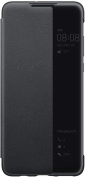Official Huawei P30 lite Smart View Flip Cover - Black - 51993076