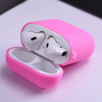 InventCase Silicone Protective Grip Case Cover for Apple AirPod Earphones / Headphones Charging Case - Pink