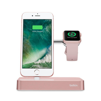 Belkin Valet Charge Dock for Apple Watch + iPhone - Rose Gold