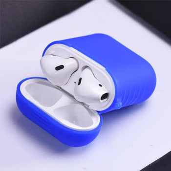 InventCase Silicone Protective Grip Case Cover for Apple AirPod Earphones / Headphones Charging Case - Blue