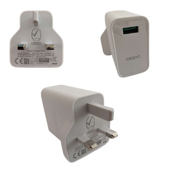 Official Oppo VOOC 30W Fast Power Adapter UK Charger - VC56HAYH