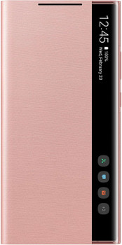Official Samsung Galaxy Note20 Ultra 5G Clear View Flip Case Cover - Mystic Bronze