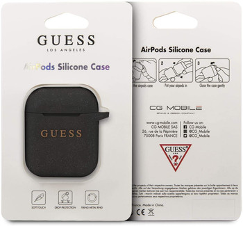 Official Guess Silicone Case for Apple Airpods 1/2 - Black