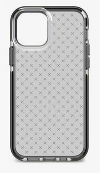 Official Tech21 Evo Check Impact Case for Apple iPhone 12 / iPhone 12 Pro - Smokey Black