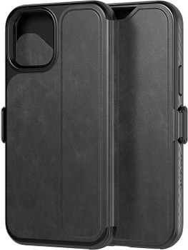 Official Tech21 Evo Wallet Case Cover for Apple iPhone 12/12 Pro - Black