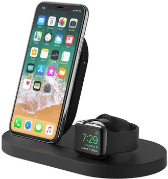 Belkin Boost Up Wireless Charging Dock for iPhone + Apple Watch + USB-A Port - Black