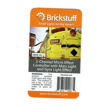 Brickstuff 2-Channel Micro Effect Controller with Mars Light and Gyra Light Effect - TRUNK06-MG