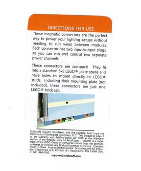 Brickstuff Horizontal Power Connectors (One Set) BRANCH-MAG4PIN