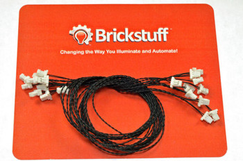 """Brickstuff 10-Pack, 12"""" Connecting Cables (Bulk Packs)  - WIRE12-10PK"""