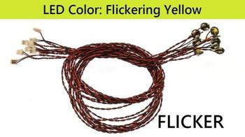 Brickstuff Flickering Yellow Pico LED Light Boards (10-Pack)