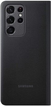 Official Samsung Galaxy S21 Ultra 5G LED View Cover Flip Case - Black