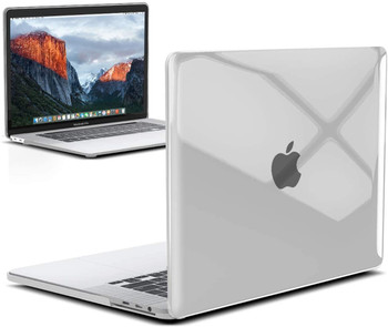 """InventCase Rigid Hard Case Cover for MacBook Pro 16"""" 2019 / 2020 A2141 Laptop - Crystal Clear"""