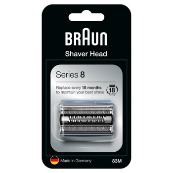 Braun 83M Series 8 Electric Shaver Replacement Head Cutter - Silver
