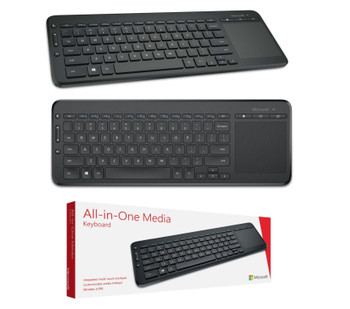 Microsoft All-in-One Media Wireless QWERTY Keyboard with Trackpad
