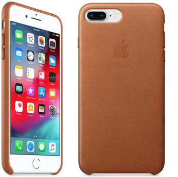 Official Apple Leather Case Cover for iPhone 7 Plus / iPhone 8 Plus - Saddle Brown