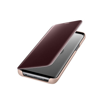 Official Genuine Samsung Galaxy S9 Clear View Standing Case Cover - Gold
