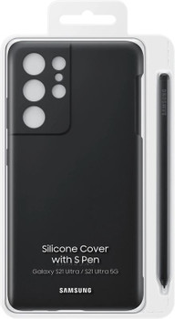 Official Samsung Galaxy S21 Ultra 5G Silicone Cover with S Pen - Black