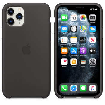 Official Apple Silicone Case Cover for iPhone 11 Pro - Black