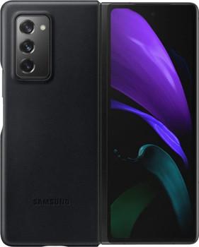 Samsung Galaxy Z Fold2 5G Leather Cover - Black - EF-VF916LBEGEU