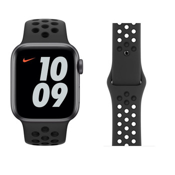 Official Apple Watch Nike Sports Strap Anthracite/Black 42/44mm S/M & M/L - MX8E2ZM/A - Retail Packed