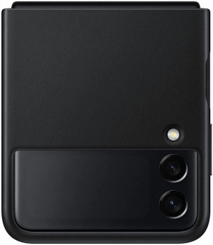 Official Samsung Galaxy Z Flip3 5G Leather Cover - Black