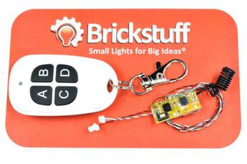 Brickstuff 4-Channel RF Remote Transmitter and Receiver - ACORN06RF