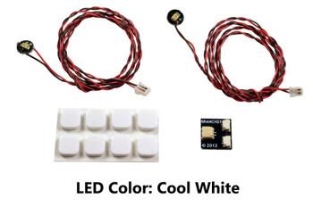Brickstuff Cool White Pico LED Light Board 2-Pack - LEAF01-PCW-2PK