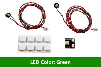 Brickstuff Green Pico LED Light Board 2-Pack - LEAF01-PGR-2PK