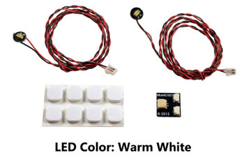 Brickstuff Warm White Pico LED Light Board 2-Pack - LEAF01-PWW-2PK