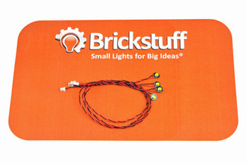 "Brickstuff Warm White Pico LED 4-Pack with 6"" (152mm) Cables - LEAF01-PWW-4PK6"