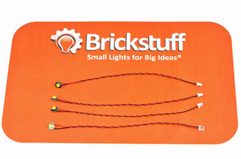"Brickstuff Warm White Pico LED 4-Pack with 3"" (76mm) Cables - LEAF01-PWW-4PK3"