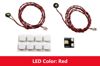 Brickstuff Red Flashing Pico LED Light Board 2-Pack - LEAF01-PFR-2PK