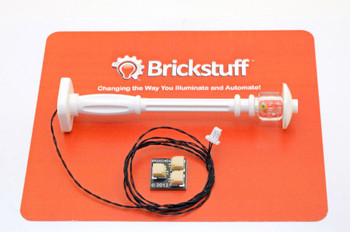 Brickstuff White Street Lamp Post with Warm White Pico LED - LEAF01-SLAMPW