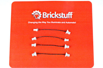 "Brickstuff 1.5"" Extension Cables for the Brickstuff LEGOLighting System (4-Pack) - GROW01.5"