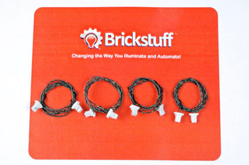 """Brickstuff 12"""" Extension Cables for the Brickstuff LEGOLighting System (4-Pack)  - GROW12"""
