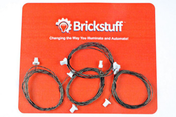 "Brickstuff 24"" Extension Cables for the Brickstuff LEGOLighting System (4-Pack) - GROW24"