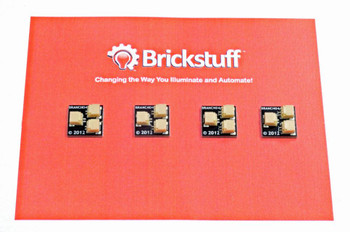 Brickstuff 1:2 Expansion Adapter (4-Pack) for Lighting LEGOModels - BRANCH04-4PK