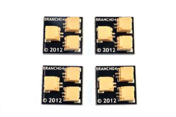 Brickstuff 1:2 Expansion Adapter (4-Pack) for Lighting LEGOModels - BRANCH04-4PK
