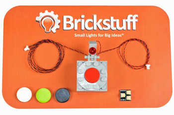 Brickstuff On/Off Pushbutton Switch With 4 Color Caps and Light - ACORN03