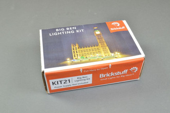 Brickstuff Lighting Kit for Big Ben Creator Expert 10253 Lego Set - KIT21 (Power Supply Not Included)