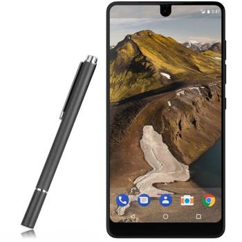 InventCase Premium Round Thin Tip Capacitive Disc Stylus Pen for Essential Phone 2017 - Black