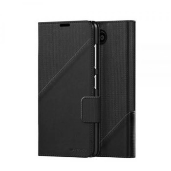 Mozo Flip Cover Case with NFC for Microsoft Lumia 650 – Black Golf (650FBG2)